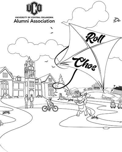 Alumni Association coloring sheet