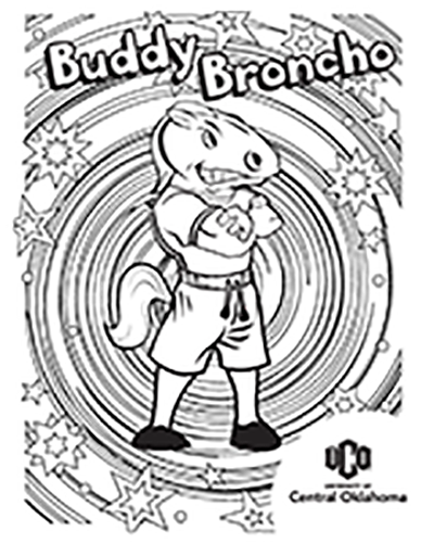 Buddy Broncho coloring sheet